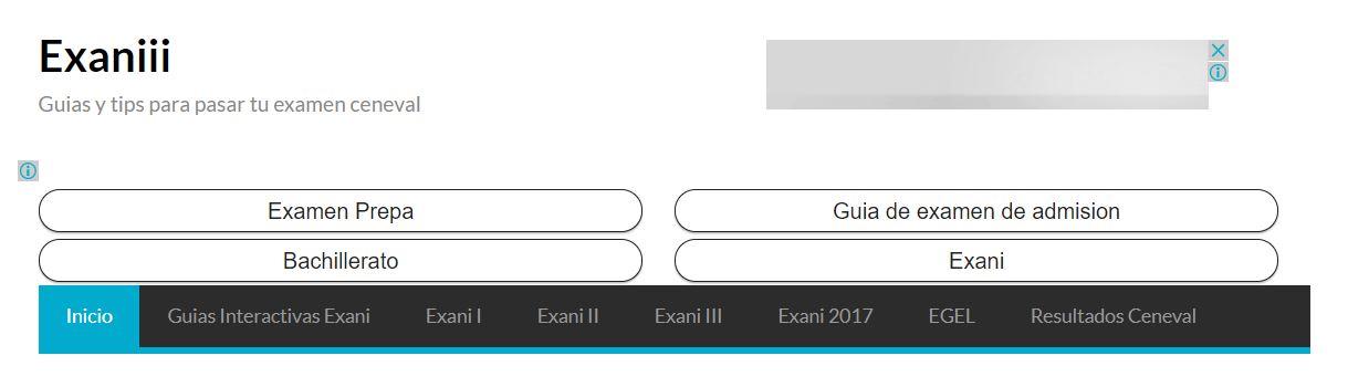 Guias de estudio para tu examen de admision