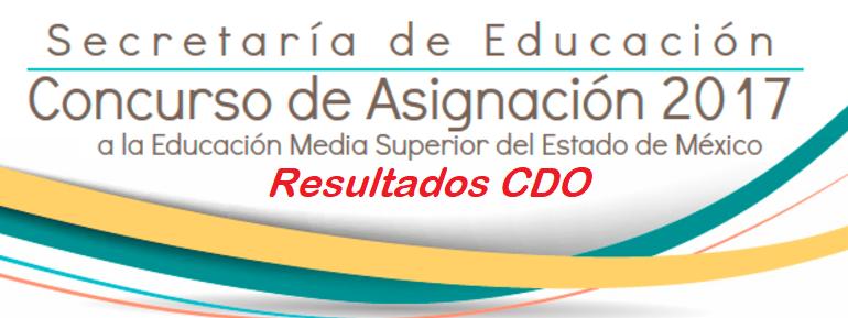 Resultados segunda oportunidad de ingreso CDO